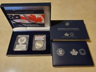 2019 Pride of Nations Silver Eagle Enhanced Rev PR70 FDOI Mercanti