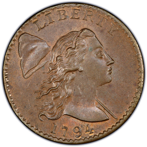 Flowing Hair Large Cent (1793-1796)
