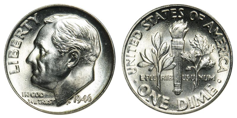 Roosevelt Dime (1946 to Date)